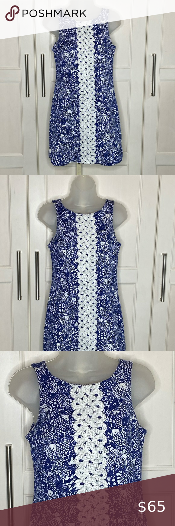 Lilly Pulitzer For Target Blue Tank Dress Sz 6 Tank Dresses Outfit Clothes Design Fashion [ 1740 x 580 Pixel ]