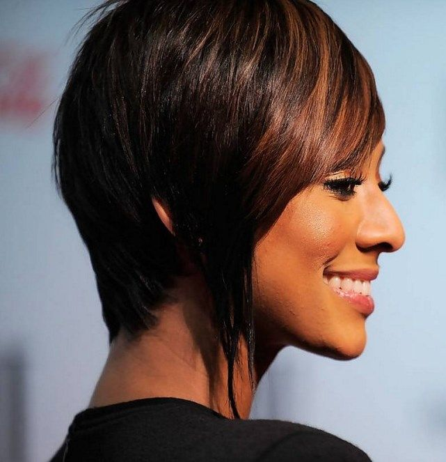 Short bob haircut with highlights african american at 40 5 short a side view of this cut keri hilson inverted bob keri hilson short hairstyles stylebistro urmus Images