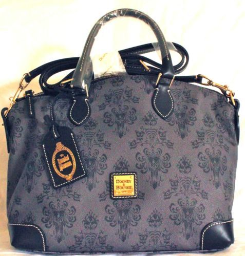 This Listing Is For One New Disney S The Haunted Mansion Crossbody Satchel Bag By Dooney Bourke The Leather Bag Featu Satchel Tote Bag Bags Purses Crossbody