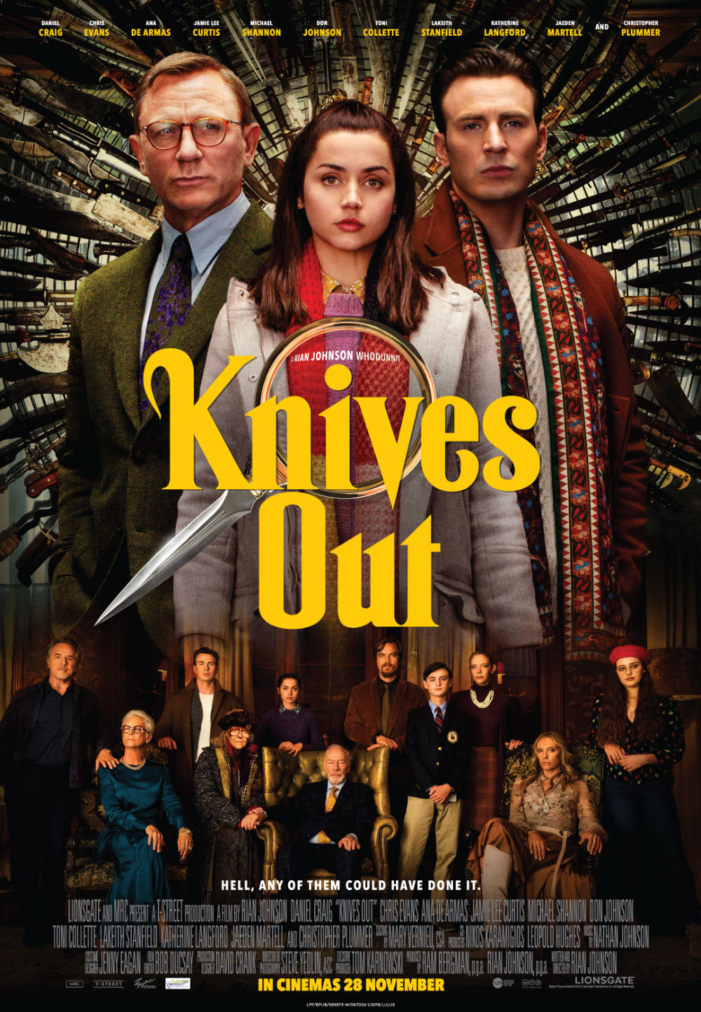 Knives Out A fun twisty film that I enjoyed from start