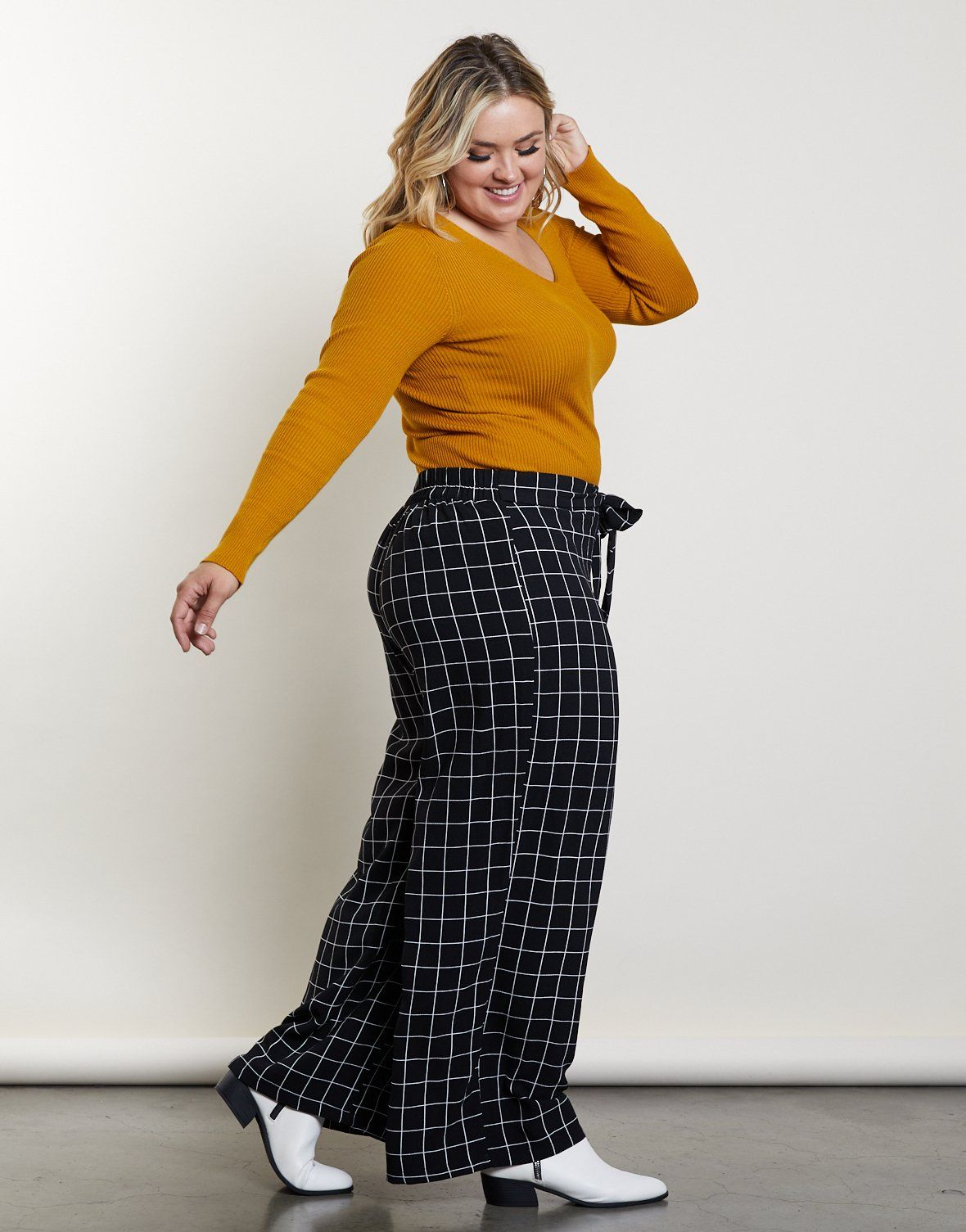 Plus Size Amy Windowpane Pants in 2019 | Curvy Fashion ...