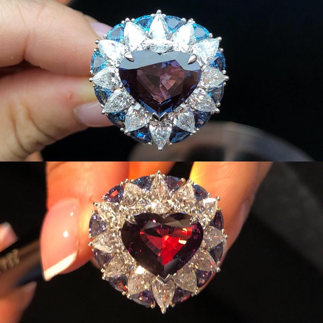 Image result for before and after using colour changing gemstones jewelries