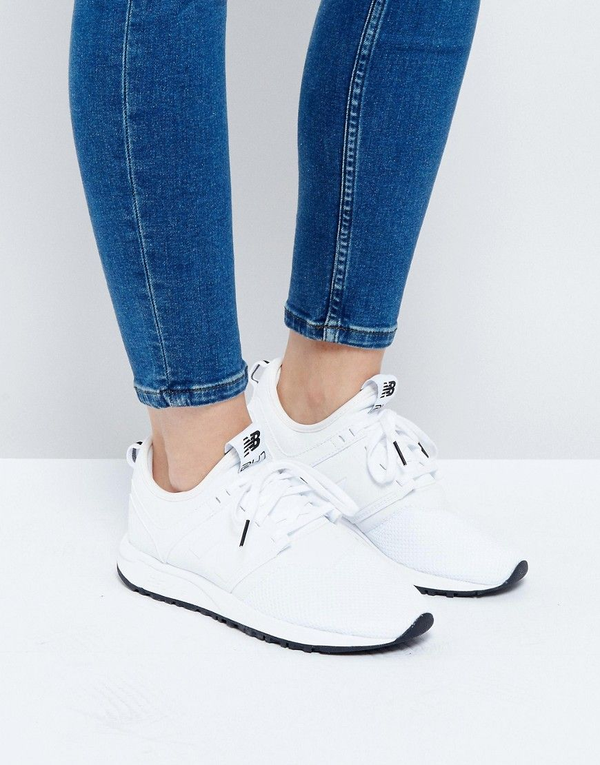 Buy it now. New Balance 247 Trainers In White - White ...