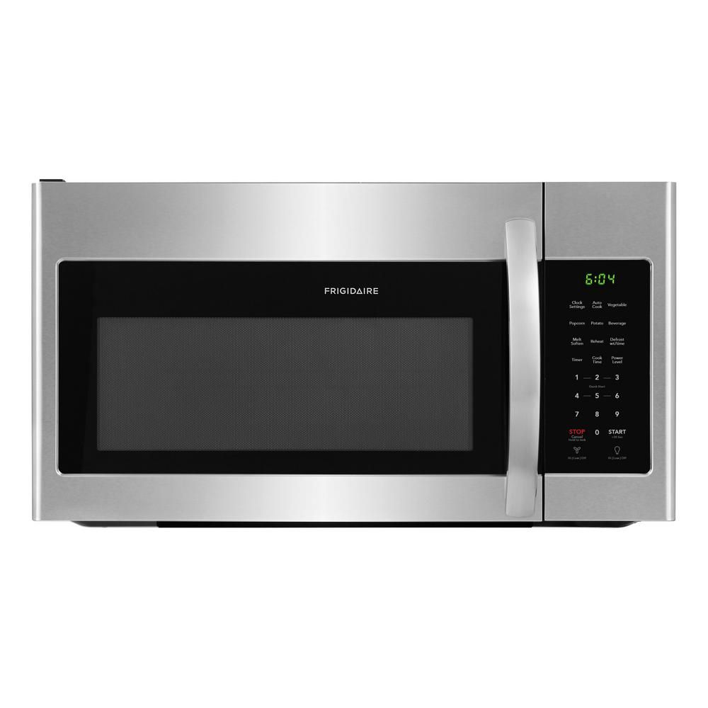 1000 Cooking Watts in Stainless Steel Frigidaire FFMV1745TS 30 Inch Over the Range Microwave Oven with 1.7 cu ft Capacity