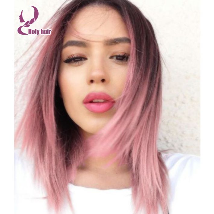 Online Buy Wholesale Pink Virgin Hair Dark Roots From China Pink Hair Styles Hair Color Pastel Hair Inspiration