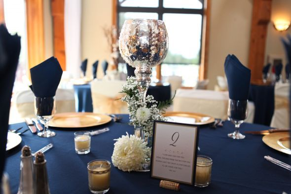 Navy Blue And C Wedding Centerpieces Decor Diy Flowers Gold