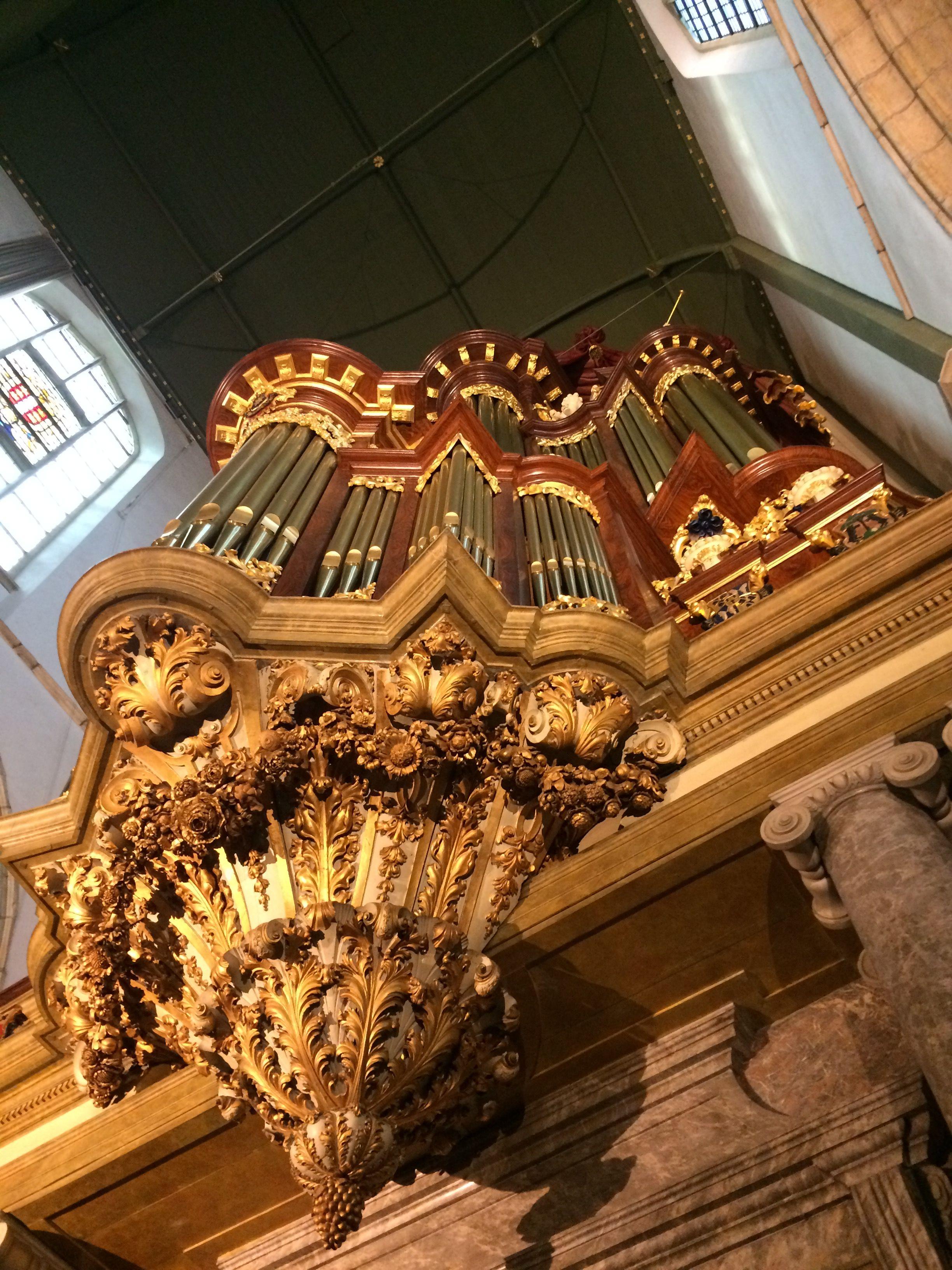 Het kerkorgel van de Sint-Janskerk in Gouda