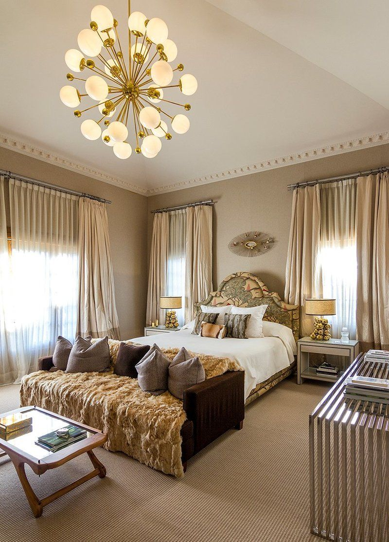 Opulent Master BEdroom Design In Eclectic Style By Sofia