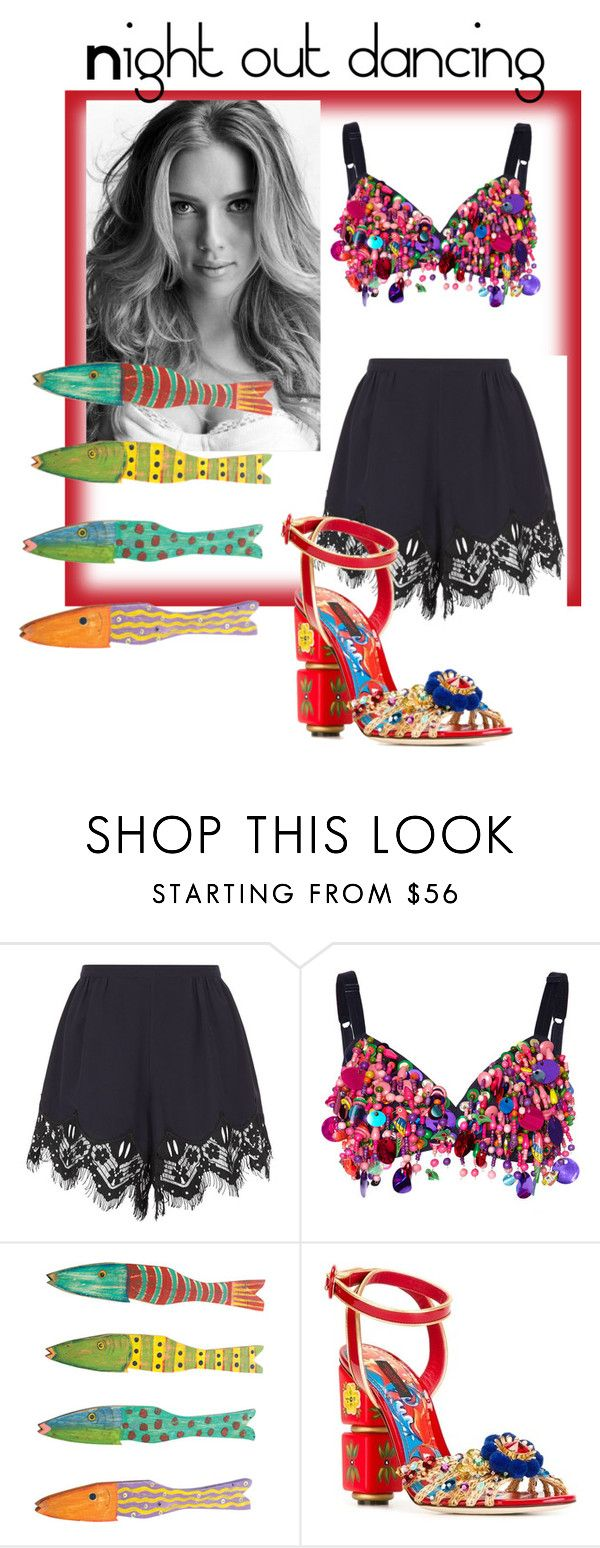 """""""Night out dancing"""" by villadybendal ❤ liked on Polyvore featuring Chloé, Dolce&Gabbana and Dot & Bo"""