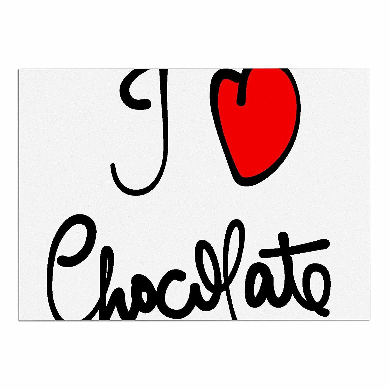 Kess inhouse gabriela fuente ui love chocolateu food typography dog