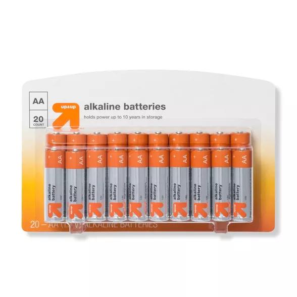 Aa Batteries 20ct Up Up Aa Batteries Batteries Alkaline Battery