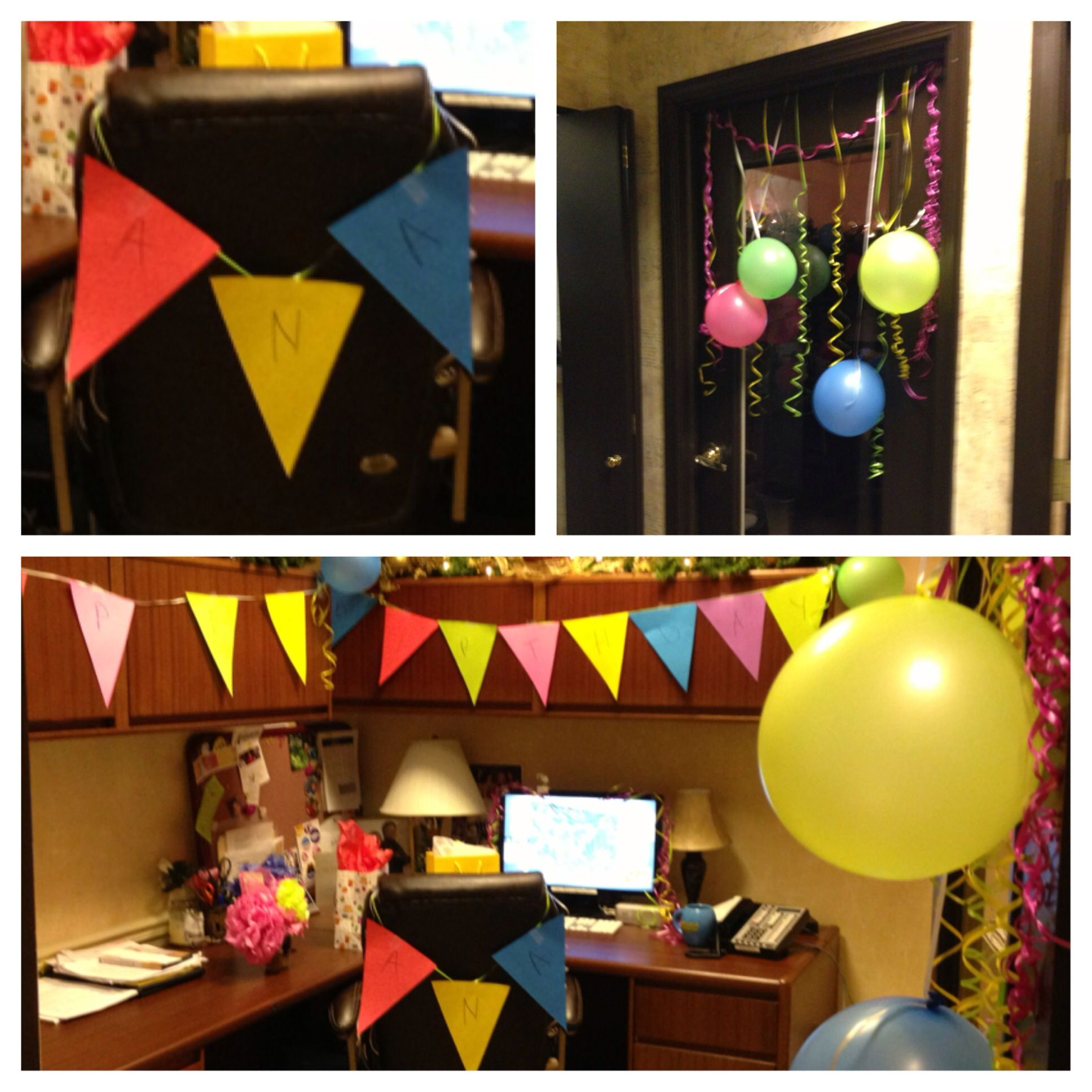 Decorating An Officedesk (Birthday) How To Decorate An Office For