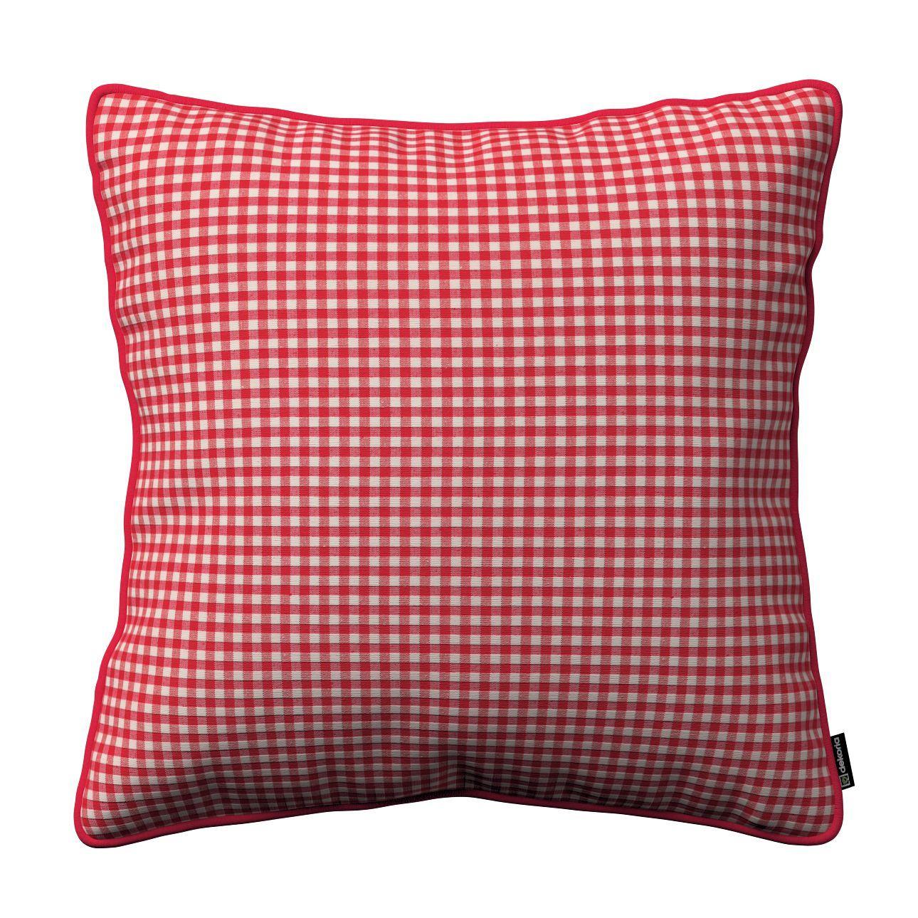 Kissen 40x40 Grün Zierkissen Superflausch Rot