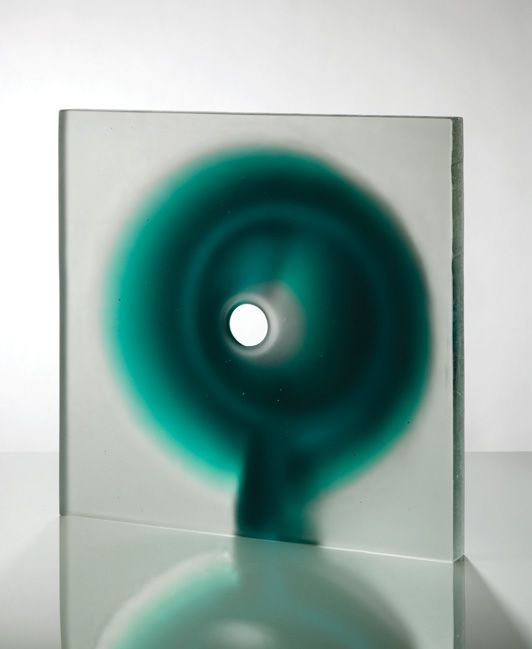 Richard Whiteley - Cone and Plane Cast and carved glass - Ranamok
