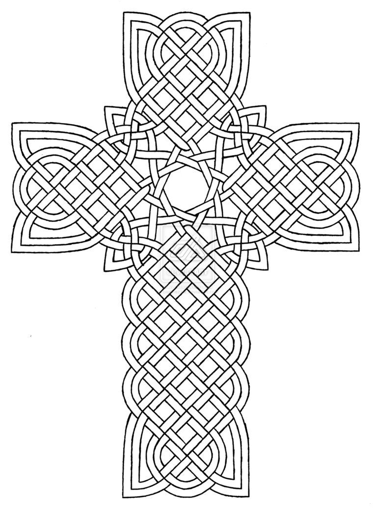 Coloring pages for adults crosses - Coloring Pages Crosses Designs Celtic Cross Design 1 By Baalthezzar