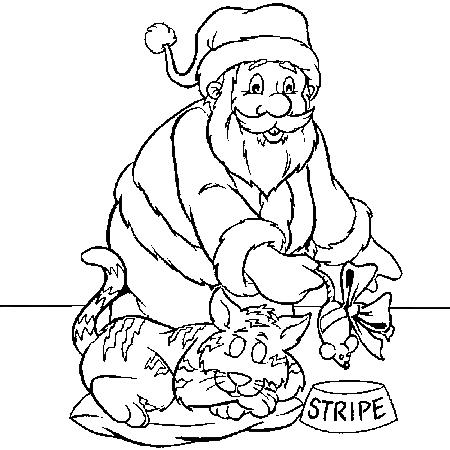 Dessin De Chat De Noel 2