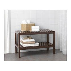 Good To Put Placed Under The Bathroom Sink MOLGER Bench   Dark Brown,     IKEA