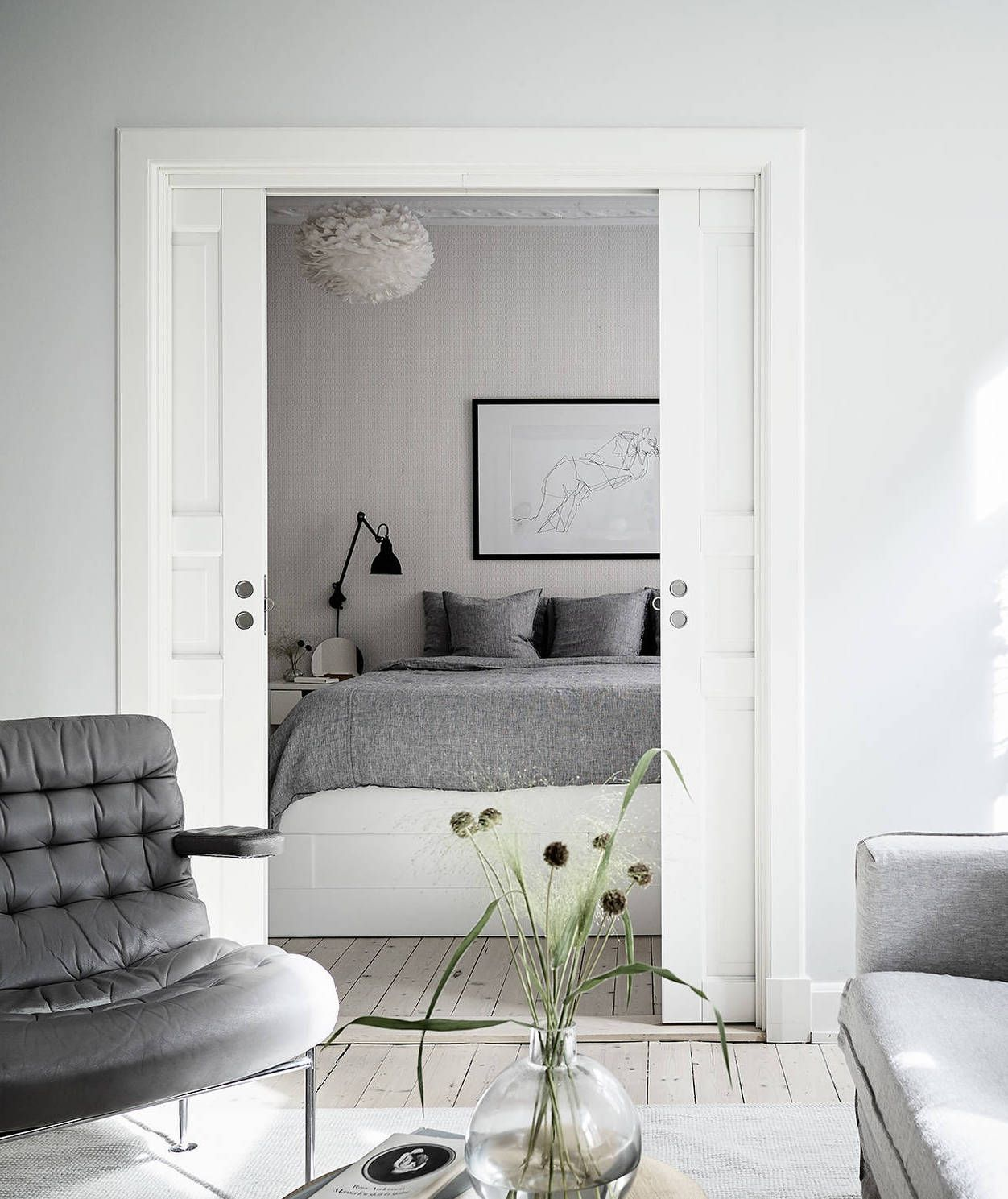 neutral home with black accents via coco lapine design blog scandinavian design pinterest black accents interiors and bedrooms - Scandinavian Design Blogs