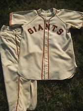 0bad3ac9 1948 New York Giants Baseball Game Worn Used Jersey Flannel Uniform ...