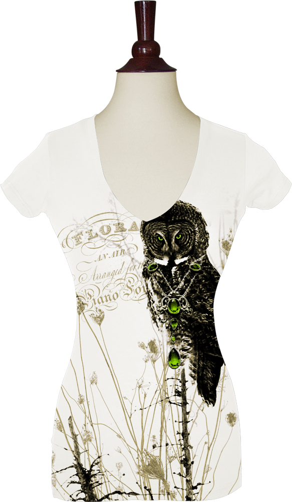 This is a fantastic tee adorned with my favorite bird, the Great Gray Owl!