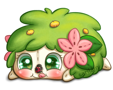 FREE Shaymin Snuggly (Page Doll) by Sarilain.deviantart.com on @DeviantArt
