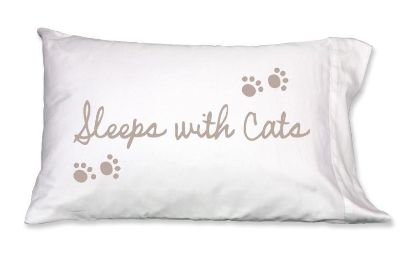 Faceplant Pillowcases Mesmerizing Sleeps With Cats Pillowcase Fpcatsspc  Products Decorating Design