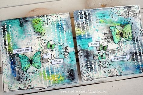 Mezzanotteskapar- Mixed Media made by Katja: Time for an Art Journal Page #artjournalmixedmediainspiration