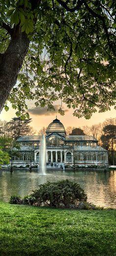 Palacio de cristal parque del retiro madrid españa