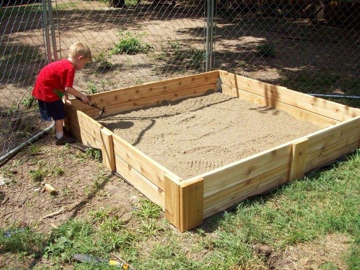 sandkasten selber bauen, 30 entzückende ideen, wie man einen sandkasten selber bauen kann, Design ideen