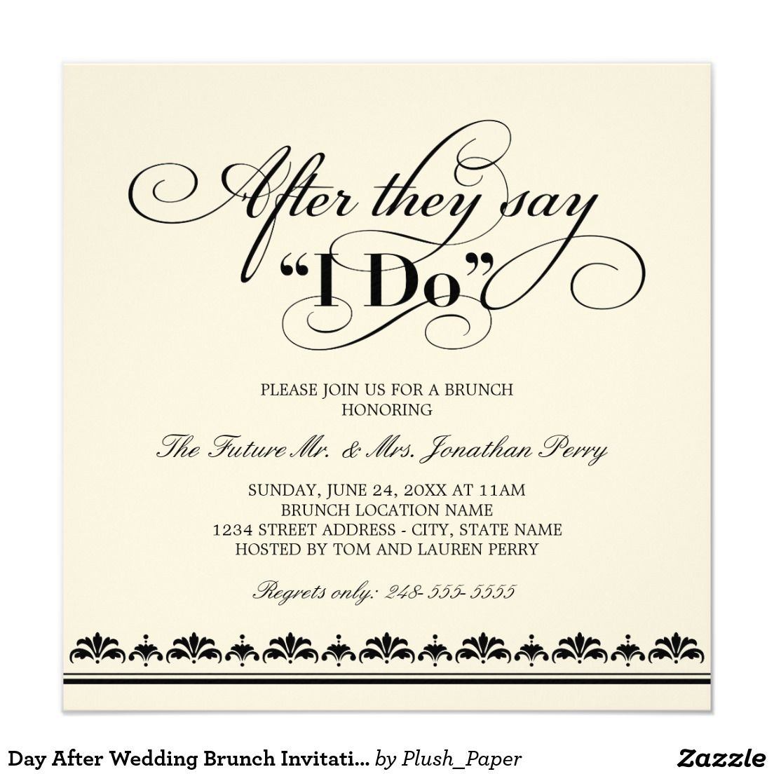 79dbdc704f501b1796f23859e2ea523d day after wedding brunch invitation wedding vows brunch,Wedding Breakfast Invitations
