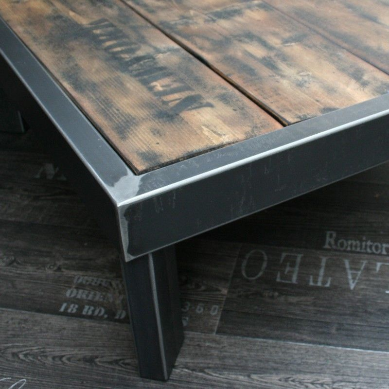 Table Palette Loft Plateau Bois Cire Table Palette Table Basse Design Table Basse