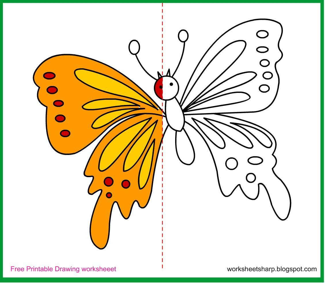 Printable Drawing Worksheets For Preschool In