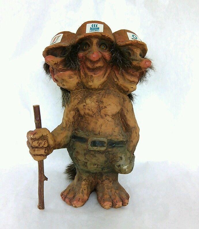 Details About As Nyform Troll Norway Norwegian Souvenir 3 Heads Saga