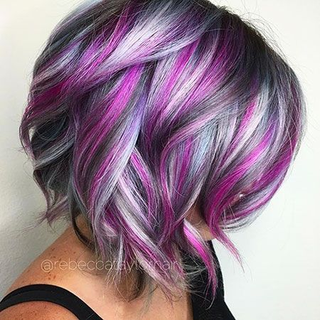Short Cute Color Hair Hair Styles Unicorn Hair Color Hair Color Crazy