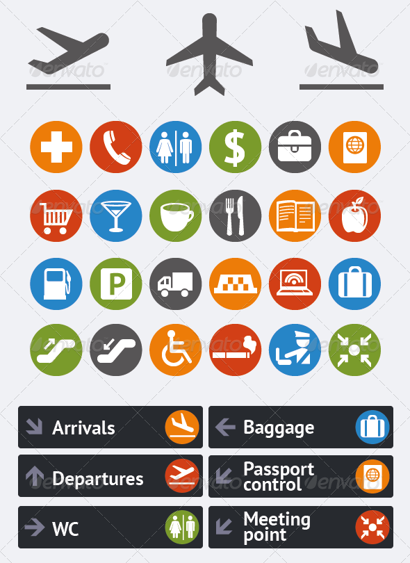Vector collection of icons and pointers for navigation in