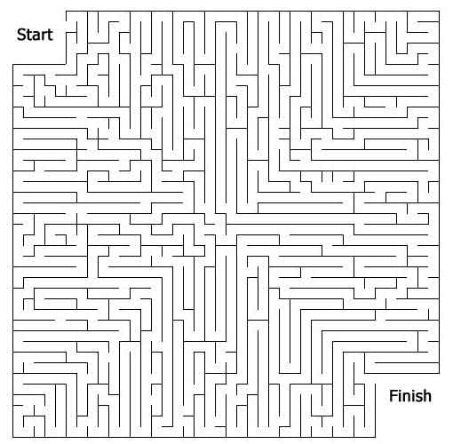 maze page print your free maze at allkidsnetwork com 3rd even