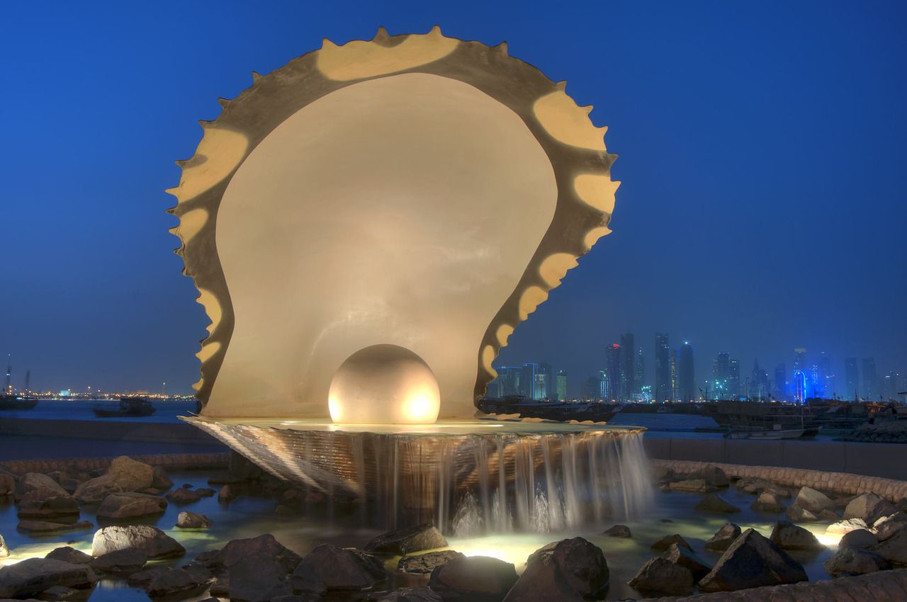 And 6 lusail katara hotel doha qatar pictures to pin on pinterest - Pearl Oyster Shell Monument Doha Qatar