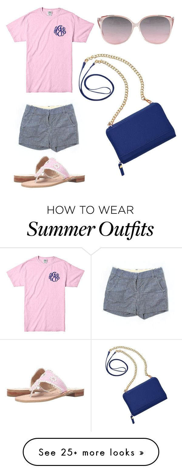 """""""Summer Outfit #2"""" by emmmagreeene on Polyvore featuring J.Crew, Jack Rogers and TravelSmith"""