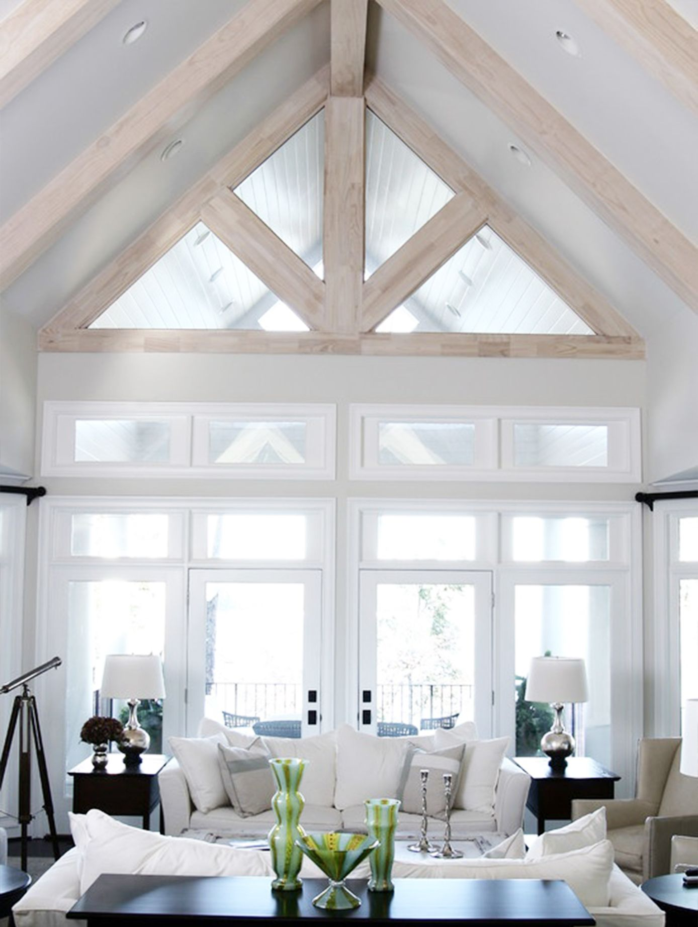 There S No Better Way To Make A Space Feel Bigger And Brighter Than Vaulted Ceilings We Roun Vaulted Ceiling Living Room Living Room Ceiling Living Room White