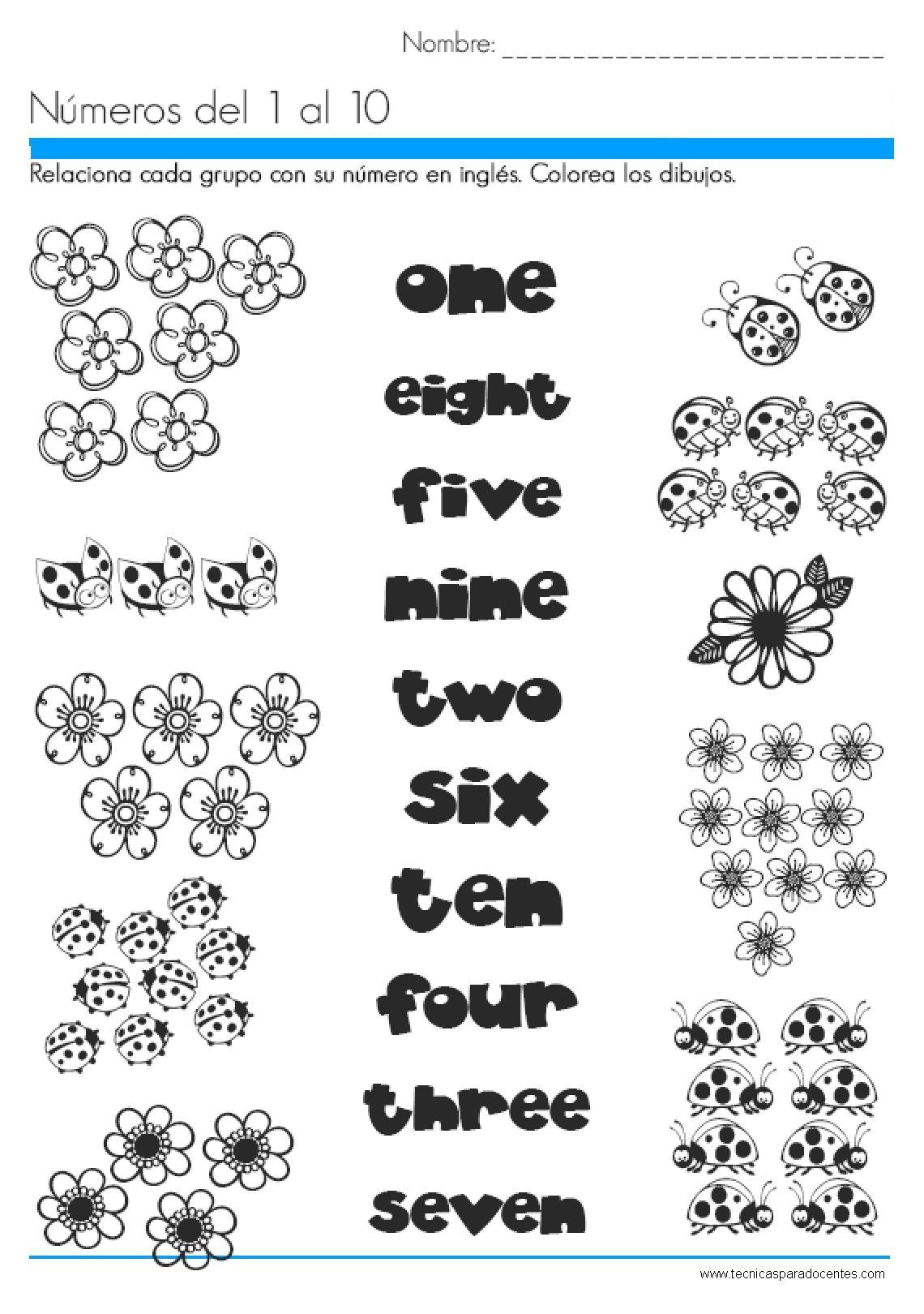Coleccion De Fichas Para Ordenar Los Numeros Del 1 Al 10 En Color