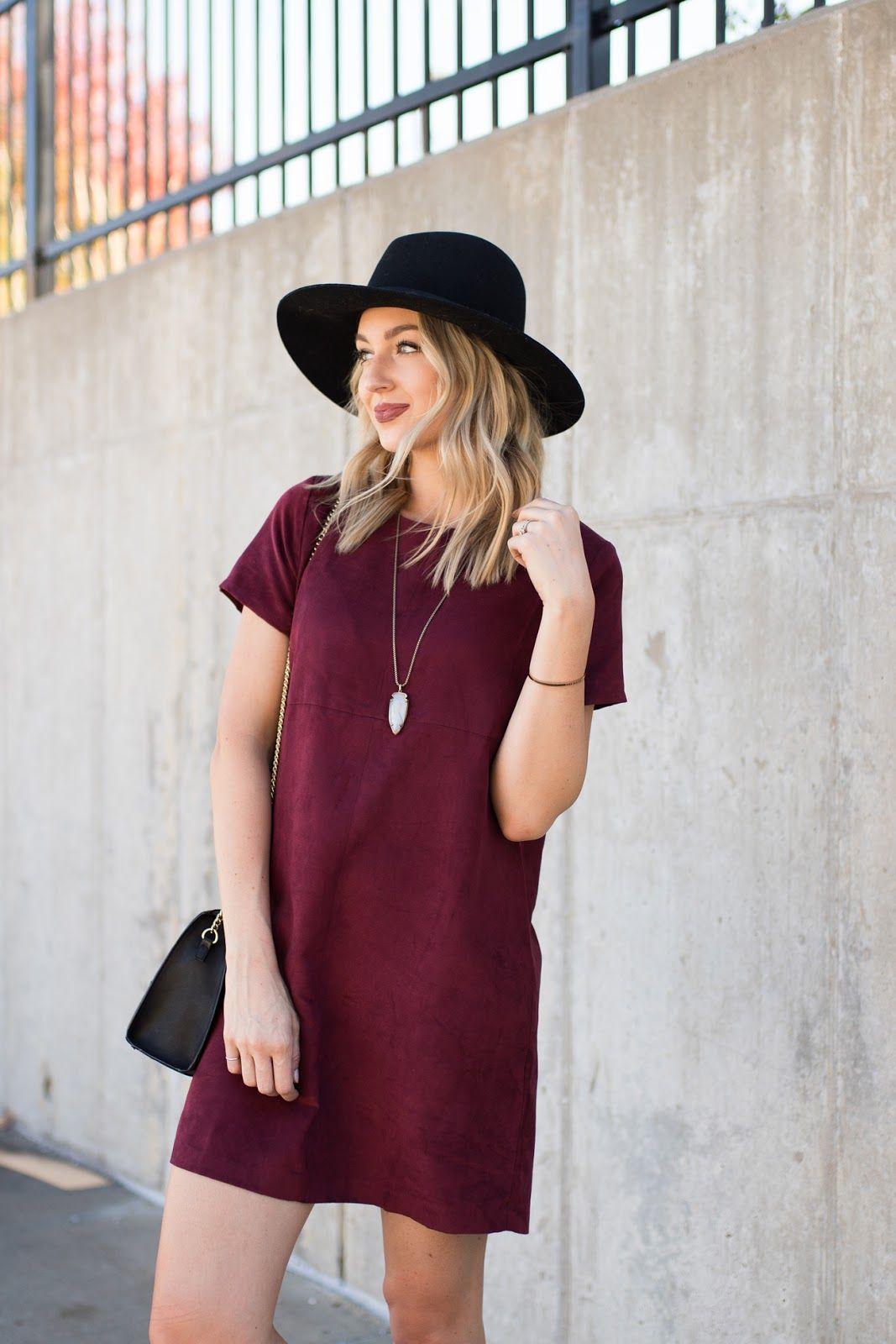 Love, Lenore: Suede Shift Dress