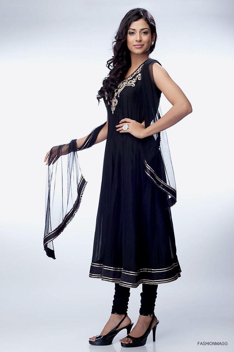 Stylish white dress wedding umbrella frocks churidar designs - Latest Stylish Indian Anarkali Umbrella Frock 2013 For Women