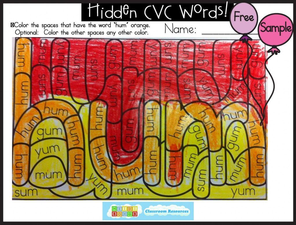 Hidden Cvc Words Volume 2 Get Your Freebie Here With