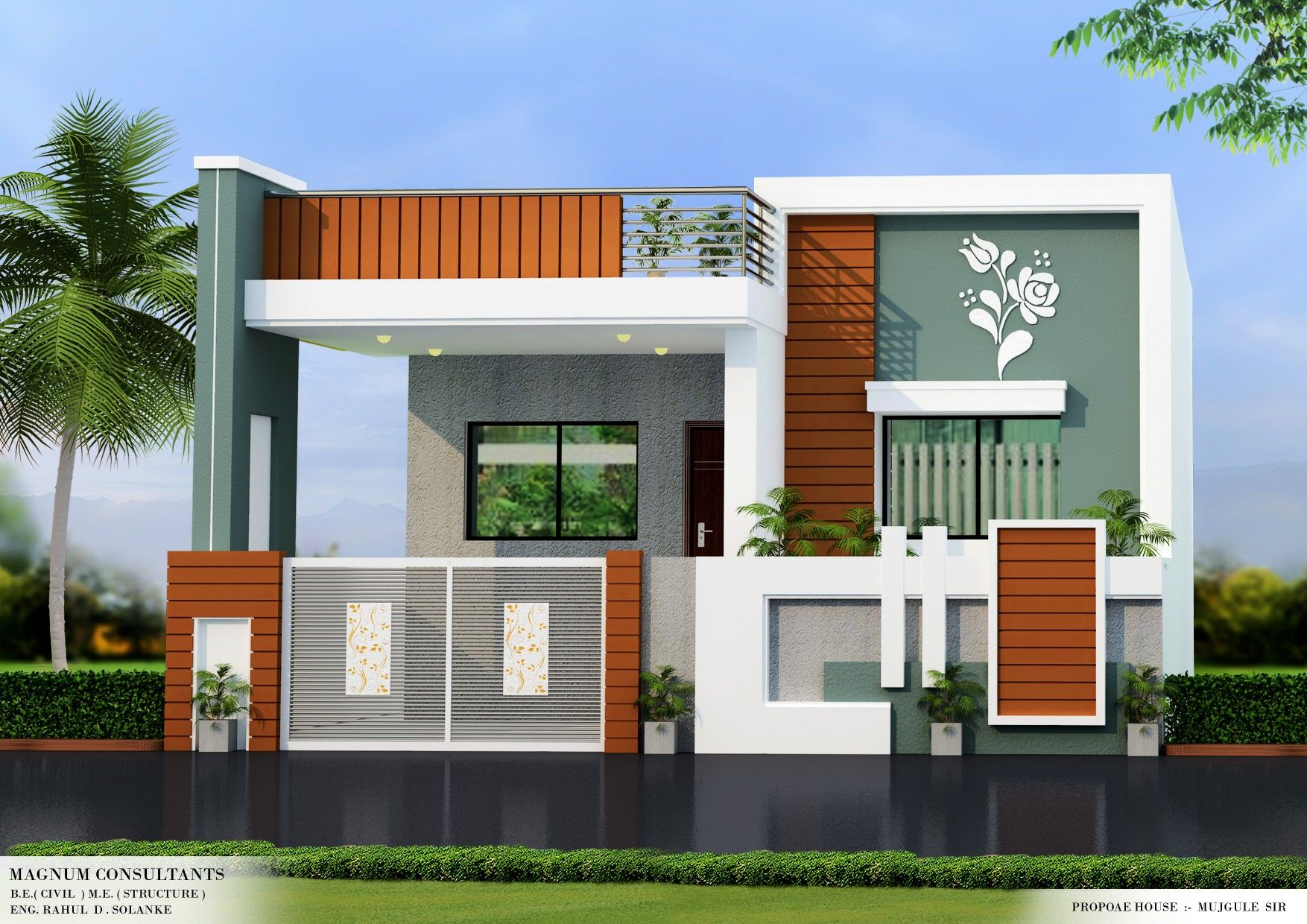 Pin By Modern Home Design On House Elevation Small House Design Exterior Small House Elevation Design Small House Front Design