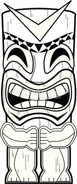 Hawaiian Warrior mask Google Tiki Time Pinterest