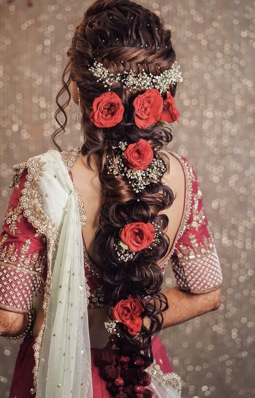 top 30+ latest indian bridal wedding hairstyles images 2019
