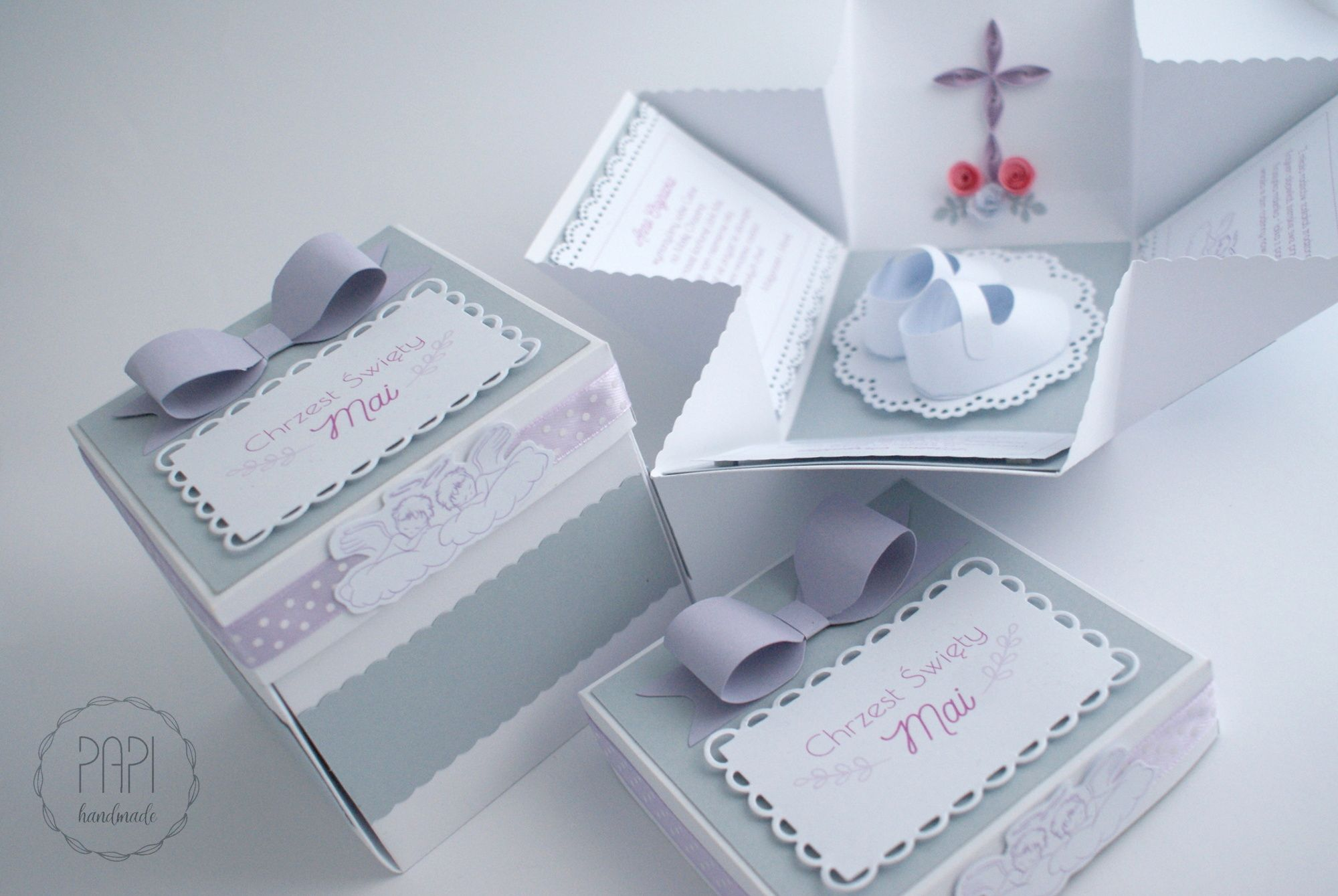 Zaproszenia Boxy Na Chrzest Swiety Kartki Recznie Robione