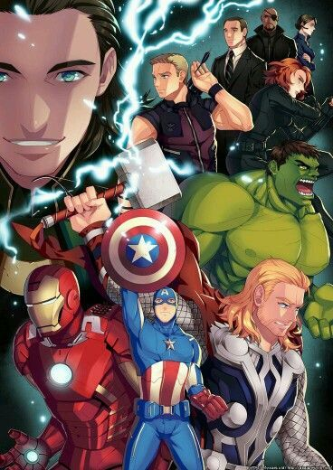 Avengers Anime #avengers #anime #fanart - Visit to grab an amazing super hero shirt now on sale!