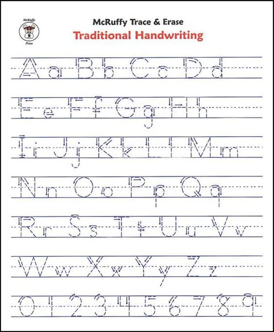 Handwriting Sheets And Alphabet On | Handwriting sheets | Pinterest ...