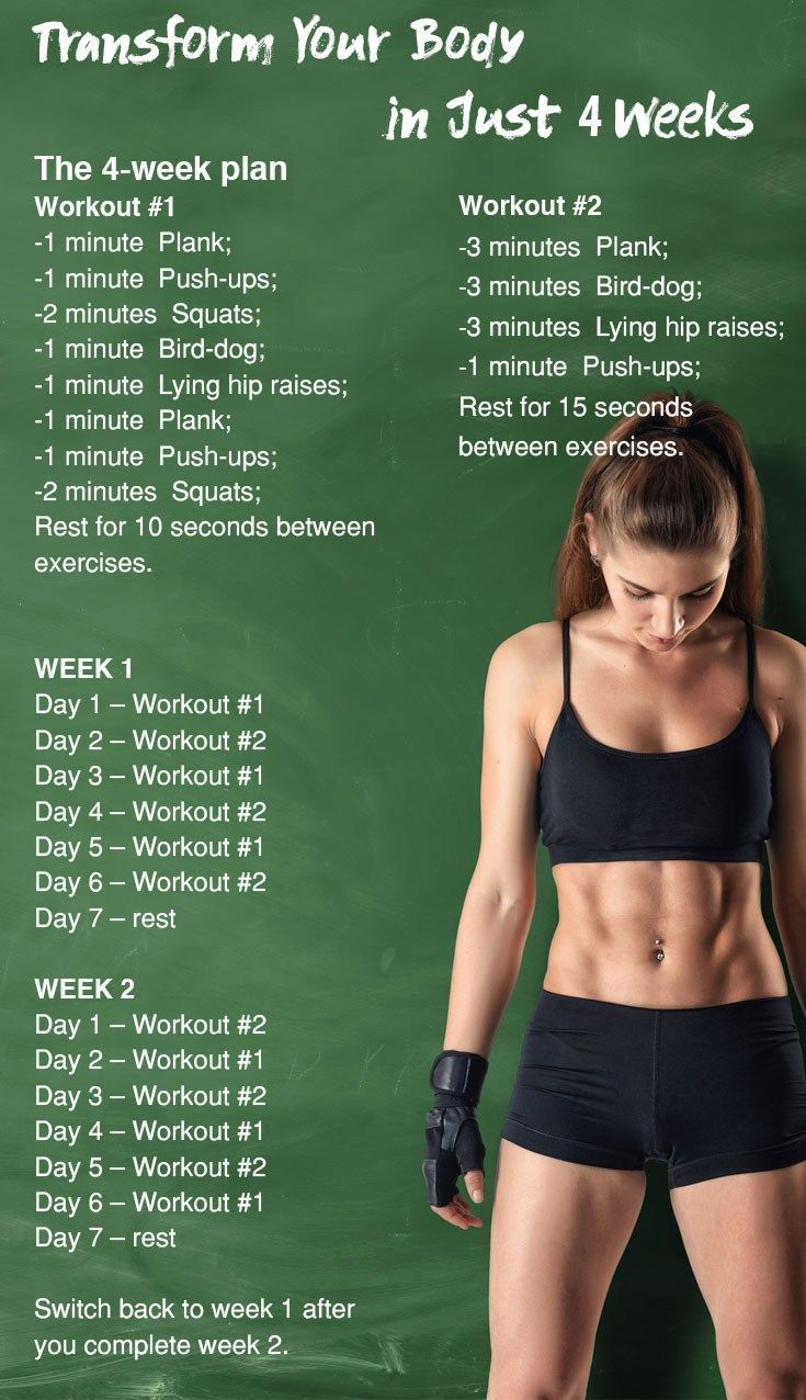 5 Simple Exercises That Will Transform Your Body in Just 4 Weeks #fitness #exercises